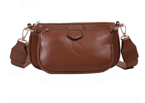 Модная женская сумка в сумке 3в1 - Коричневая