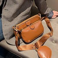 Модная женская сумка в сумке 3в1 - Коричневая, фото 9