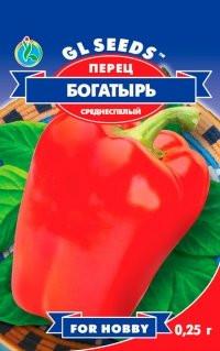 Семена перец Сладкий Богатырь массой 150-200 г
