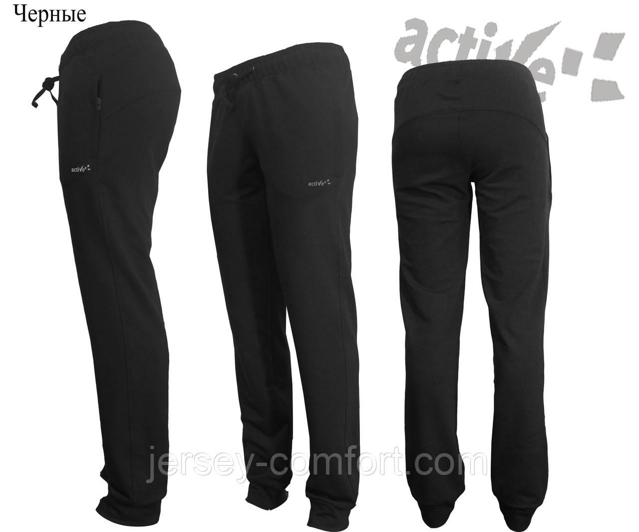 Брюки  женские трикотажные черные. Мод. 0-85