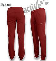 Брюки  женские трикотажные красные. Мод. 0-85., фото 1