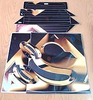 Комплект наклеек Золотой для игровой приставки PS-4 PRO
