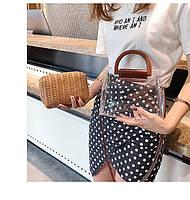 Модная женская сумка в сумке - Плетеная прозрачная, фото 2