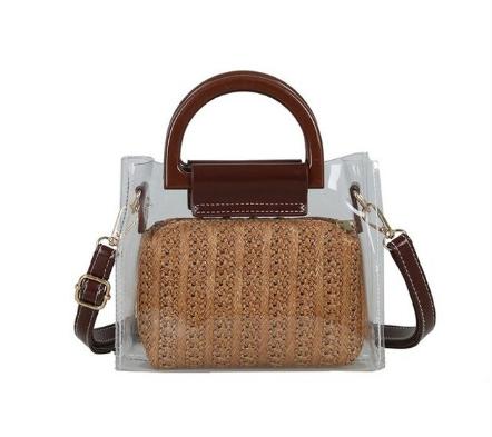 Модная женская сумка в сумке - Плетеная прозрачная