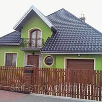 Металлочерепица Ретро 0,45мм глянцевый полиэстр Украина, фото 3
