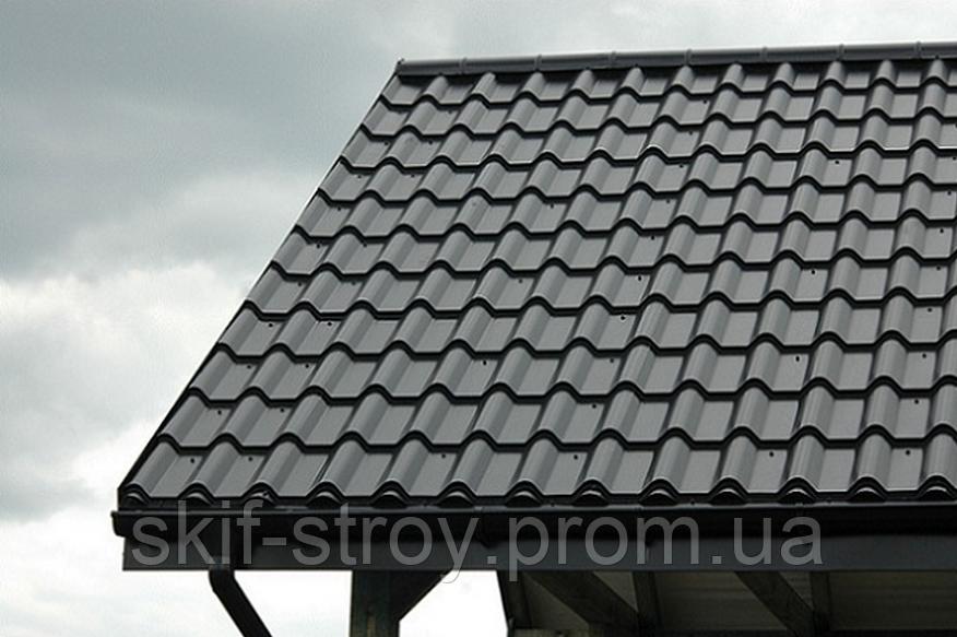 Металлочерепица Ретро 0,45мм глянцевый полиэстр Украина