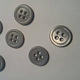 Пуговица рубашечная перламутровая серая, матовая,  10 мм диаметр, фото 2