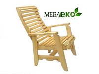 Кресло дачное \ банное \ садовое из натурального дерева.