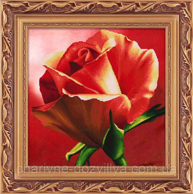 "Набор алмазной вышивки (частичная зашивка) ""Красная роза"""