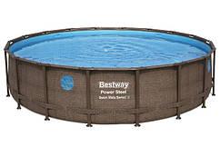 Каркасний круглий басейн Bestway Ротанг 56977 (549х122) з картриджних фільтрів