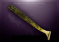 Съедобный силикон Crazy Fish VIBRO WORM watermelon (арбуз)