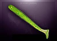 Съедобный силикон Crazy Fish VIBRO WORM kiwi (киви)