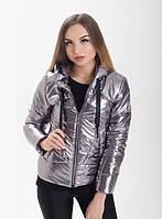 Демисезонная женская куртка KML XS-XXL (42 - 52 р.) Графит
