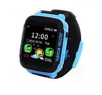 Smart Watch K3 Черно-синие | Умные детские часы с GPS трекером