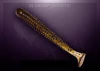 Съедобный силикон Crazy Fish VIBRO WORM swamp (болото)