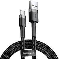 Кабель USB Baseus Cafule Type-C 2A 3m, Gray+Black (CATKLF-UG1), фото 1