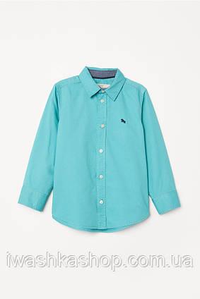 Брендовая рубашка с длинными рукавами на мальчика 9 - 10 лет, р. 140, H&M