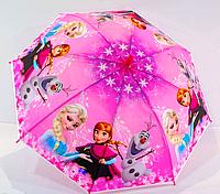 """Зонт детский трость для девочек """"Холодное сердце Disney"""" со свистком"""