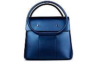 Итальянская женская сумка из натуральной кожи. Цвет: Синий перламутр, фото 1