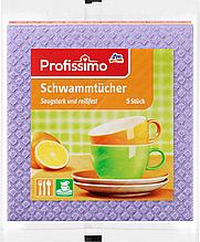 Губчатые  тряпки  Profissimo Schwammtücher 5 шт