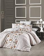 Комплект постельного белья First Choice Ranforce Luisa Ekru Двуспальный Евро