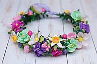 Весенний веночек для роли весна с цветами