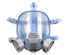 Повнолицева маска Хімік-3 з двома фільтрами (аналог 3М 6700, 3М 6800, 3М 6900)   Полнолицевая маска Химик-3