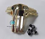 Стык тройной для торгового профиля 2578, гальваника / золото