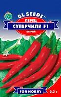 Семена перец горький Супер-Чили F1 Италия линой 6.5-7 см