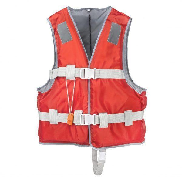 Рятувальний жилет YW1218 EPE розмір L піна і 420D поліестер, червоний