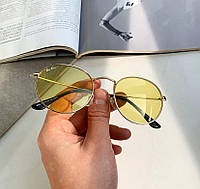 Жіночі сонцезахисні окуляри Ray Ban жовті