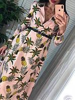Платье миди с завышенной талией и длинным рукавом 4103959, фото 1