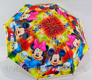 """Зонт детский трость """"Микки и Минни маус Disney"""" со свистком"""