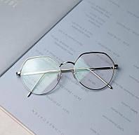 Іміджеві сріблясті окуляри унісекс