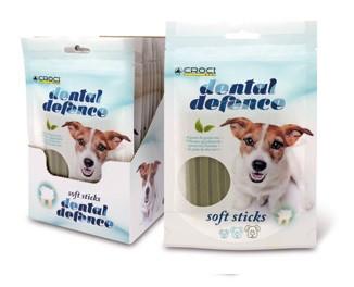 Лакомство для собак DENTAL DEFENCE SOFT STICK, защита зубов, зелен. чай, 60гр