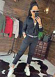Женский спортивный трикотажный костюм с мастеркой на молнии 4405860, фото 3