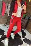 Женский спортивный трикотажный костюм с мастеркой на молнии 4405860, фото 6