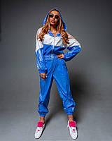 Женский спортивный костюм с манжетами и укороченным бомбером с капюшоном 1805862, фото 1