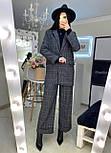 Женский брючный костюм с брюками клеш и прямым пиджаком 2010501, фото 3