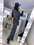 Женский брючный костюм с брюками клеш и прямым пиджаком 2010501, фото 4