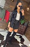 Женский костюм юбка - шорты и бомбер на молнии 4410504, фото 2