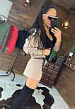 Женский костюм юбка - шорты и бомбер на молнии 4410504, фото 6