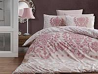 Комплект постельного белья First Choice Ranforce Dalyan Pudra Двуспальный Евро