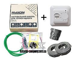 Двухжильный кабель Ryxon HC-20 обогрев (0.5м2) в комплекте с терморегулятором RTC 70.26 (KIT3101)