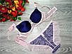 Комплект бюст с трусиками YooYal С 80 см фиолет с розовым (64-C), фото 2