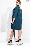Легкое женское кашемировое пальто в больших размерах с накладными карманами 115539, фото 3