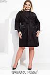 Легкое женское кашемировое пальто в больших размерах с накладными карманами 115539, фото 4