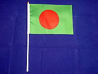 Флажок Бангладеш 13x20см на пластиковом флагштоке