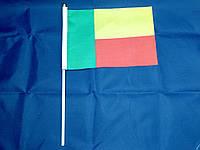 Флажок Бенина 13x20см на пластиковом флагштоке