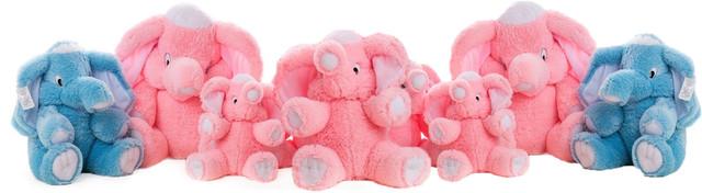 ассортимент плюшевых слонов
